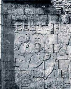 A Nubian King accepting symbols from Amun in the Temple of Osiris Hek-Djet in the Temple of Amun Enclosure at Karnak