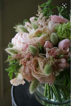Soft color bouquet with bunny tails. Faux Flowers, Fresh Flowers, Beautiful Flowers, Floral Bouquets, Wedding Bouquets, Wedding Flowers, Deco Floral, Arte Floral, Beautiful Flower Arrangements