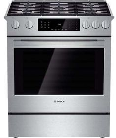Bosch HGIP054UC Benchmark 30' Stainless Steel Gas Slide-In Range - Convection ** This is an Amazon Affiliate link. Check out the image by visiting the link.