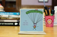 Love Anniversary Wedding Card Skydiving I am by marisakwoods, $4.50