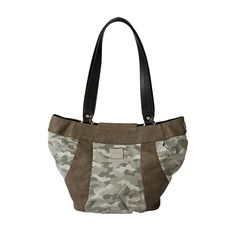 Camouflage with faux leather purse.  #Miche #deRosePursonalities