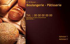 Boulangerie Ptisserie Carte De Visite Modle Personnaliser En Ligne Avec Pains