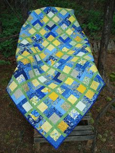 Hey, I found this really awesome Etsy listing at https://www.etsy.com/listing/188261648/yellow-and-blue-lap-quilt