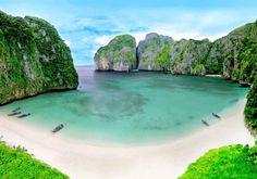 Beautiful Maya Bay in Thailand. #thailand #travel #holiday #ezytravel #maya #bay #amazing