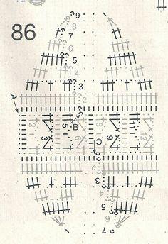 Crochet Ball, Crochet Dollies, Thread Crochet, Crochet Santa, Easter Crochet, Crochet Cross, Crochet Diagram, Crochet Chart, Crochet Motif