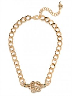 #gold #knot #necklace #snake