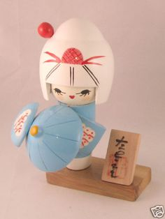 "Cute & Funky Oriental Kokeshi Doll ~ ""Mieko"" in Home, Furniture & DIY, Home Decor, Other Home Decor Momiji Doll, Kokeshi Dolls, Oriental, Funky Home Decor, Asian Doll, Japan Design, Wooden Dolls, Japan Art, China"