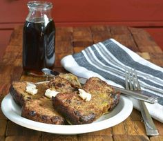 Gluten-free Dairy-free Chocolate Chip Banana Bread French Toast ... It's a delicious mouthful, just like its name! Soy and peanut-free too.
