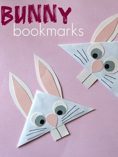 Got a bookworm in the house? These quick and easy bunny bookmarks are super-cute basket goodies.