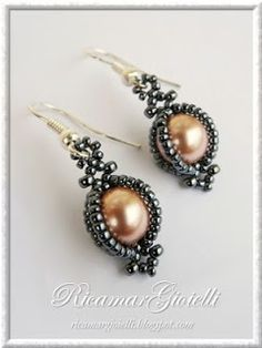 TUTORIAL Earrings Cit. These earrings would go great with the Pearl Pendant by Carla Barrett Pinterest project I saved to my board.