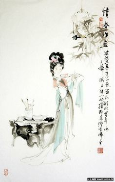 Beautiful Chinese Women from the book Hong Lou Meng (the Dream of Red Mansion) 9