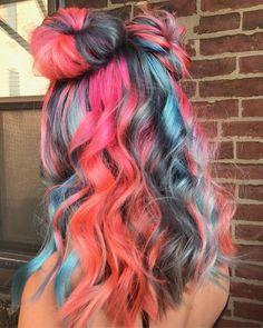 Pin by Marilyn on Hair color - Rainbow Hair Inspiration - Dye My Hair, New Hair, Pulp Riot Hair Color, Pinterest Hair, Mermaid Hair, Crazy Hair, Cool Hair Color, Pretty Hairstyles, Perfect Hairstyle
