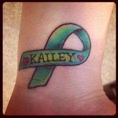 "Cerebral Palsy awareness tattoo....I have no tattoos, but I would consider this one, but the name would be spelled ""Caleigh"" :)"