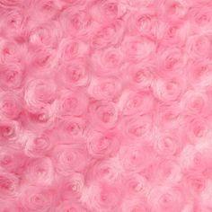 Pink Swirl Rose Bud Fabric