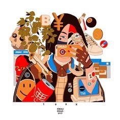 Hip hop, cyberpunk, and anime meet in the illustrations of Argentian artist Mau Lencinas, a. Art And Illustration, Cyberpunk, Mini Mundo, Bel Art, Grafiti, Art Japonais, Samurai Art, Dope Art, Japan Art