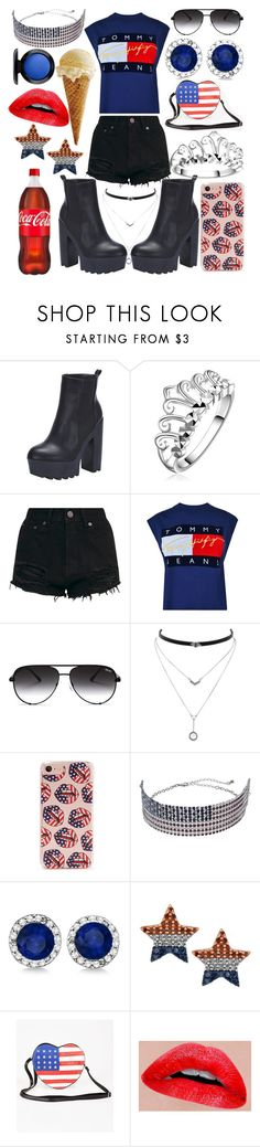 """""""Happy Memorial Day"""" by whodatgirl ❤ liked on Polyvore featuring Tommy Hilfiger, Quay, Jessica Simpson, Forever 21, Mudd, Allurez and MAC Cosmetics"""