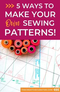 Learn five different ways to make your own sewing patterns! Make Your Own, Make It Yourself, How To Make Clothes, Pattern Drafting, Pattern Making, Refashion, 5 Ways, Sewing Hacks, Sewing Patterns