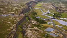 Thingvellir National Park, a UNESCO World Heritage site located at the meeting point of the North American and Eurasian tectonic plates