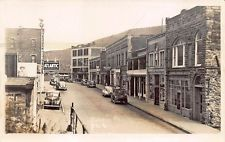 Galeton PA Street View Store Fronts Atlantic Gas Station RPPC Postcard