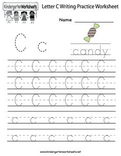 Kindergarten Letter C Writing Practice Worksheet Printable
