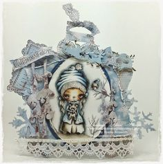 A Crafter's Journal. Copics, Diy Crafts, Paper Crafts, Happy Holidays, Christmas Cards, Clock, Photo And Video, Dolls, Journal