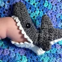 Crocheted Shark Slipper Socks....I want these in my size!!!