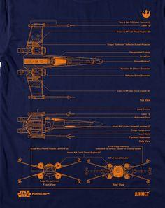 Star Wars x Addict 'Blueprint' Series T-Shirts   MASHKULTURE