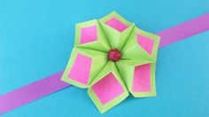 Watch my new tutorial and make Easy Paper Flowers for Greeting Cards, Rakhi Bracelets, Room Decor #paperFlower #origamiFlower #RakhiBracelets #paperDecor