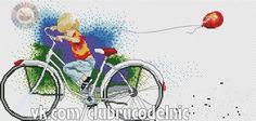 Chłopiec na Rowerze i z Balonem