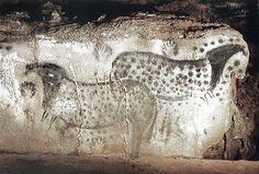 Les chevaux de la grotte Pech-Merle en France