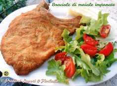 Braciole di maiale impanate Blog Profumi Sapori & Fantasia Pork, Food And Drink, Chicken, Meat, Blog, Fantasy, Loosing Weight, Culture, Kitchens