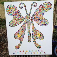 Mosaic fingerprint art..first grade students