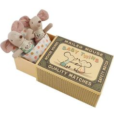 Maileg+Mouse+Plush+Toy+-+Baby+Twins+in+Box
