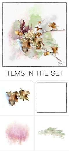 """Abstract Leaves"" by emjule ❤ liked on Polyvore featuring art"