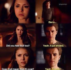 This scene had so much significance dealing with Elena and Stefans relationship. I think it's declared now that they really are over.