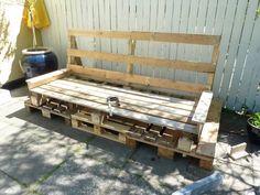 My boyfriends pallet sofa - of own design - Part 5