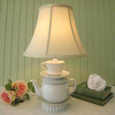 teapot/teacup lamp