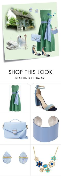 """""""Its Lunch In Our Country Pub Today"""" by jeanstapley ❤ liked on Polyvore featuring Post-It, J.Crew, GUESS, Cynthia Rowley, Maison Margiela, Melissa Joy Manning and country"""