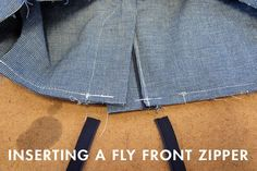 Sewing Tutorial | Inserting a Fly Front Zipper