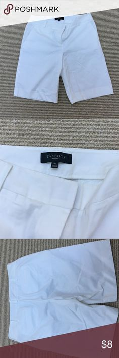 Never worn Talbots white shorts Never been worn, in perfect condition. White shorts Talbots Shorts