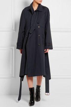 Balenciaga - Oversized Cotton Trench Coat - Navy - FR36