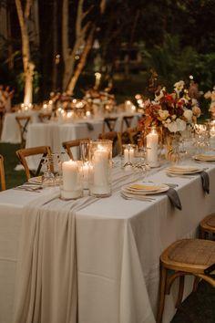 Fall Wedding Arches, Fall Wedding Place Settings, Rustic Wedding Theme, Autum Wedding, Wedding Photo Table, Neutral Wedding Decor, Wedding Reception Themes, Destination Wedding Decor, Dream Wedding