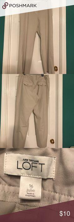 Ann Taylor Loft khaki pants, size 16 Loft-Julie khaki pants, size 16- bottom of pants show some discoloration, priced to reflect that LOFT Pants
