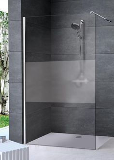 Hüppe Enjoy pure: The shower cubicle is made of toughened safety glass, in th . Shower Cabin, Shower Cubicles, Glass Partition, Bad Inspiration, Safety Glass, Bathroom Inspo, Small Bathroom, Bedroom Small, Construction