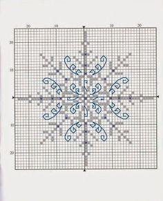 Fiocchi di neve a punto croce | Punto croce - Schemi e Ricami gratuiti