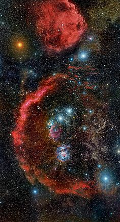 ~~Cradled in cosmic dust and glowing hydrogen, stellar nurseries in Orion the Hunter lie at the edge of a giant molecular cloud some 1,500 light-years away | Rogelio Bernal Andreo~~