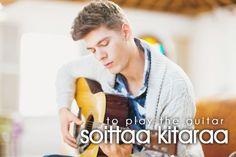 soittaa kitaraa ~ to play the guitar Learn Finnish, Finnish Words, Finnish Language, Language Study, Vocabulary, Marimekko, Learning, People, Traveling