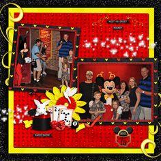 Mickey Disney scrapbook layout