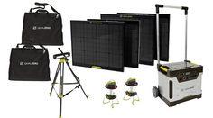 Goal Zero Yeti 1250 Solar Generator Power Pack Kit with 4 Boulder 30 Panels, 1 Tripod and 3 Lighthouse 250 Lanterns