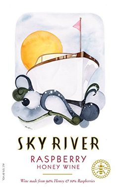 NV Sky River Raspberry Honey Wine [Melomel] 750 mL >>> Continue to the product at the image link. Mead Wine, How To Make Mead, Honey Wine, Wine Label, Old Art, Wines, Raspberry, Disney Characters, Fictional Characters